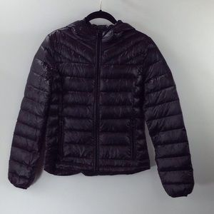 Miss Sixty black hooded quilted coat size XS